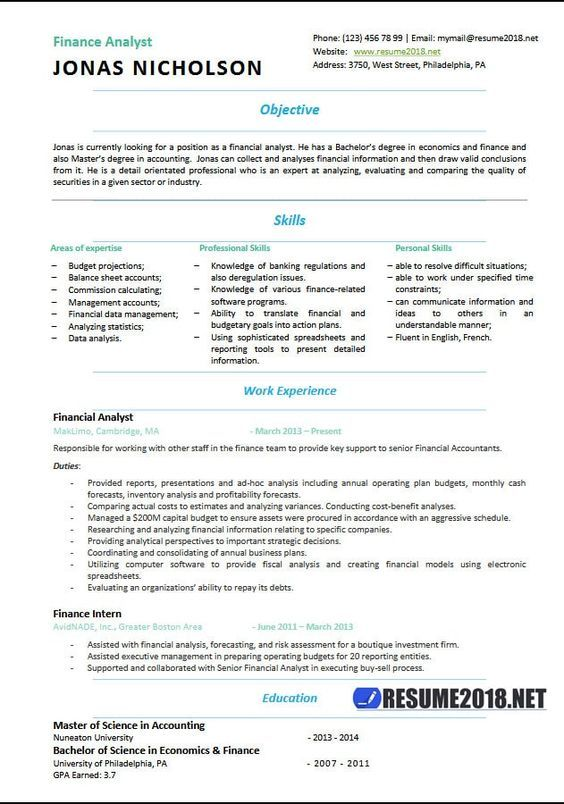 Resume Examples 2018 Provides Resume Templates And Resume Ideas To Help You Land That Most Wished For Interview And J Resume Examples How To Make Resume Resume