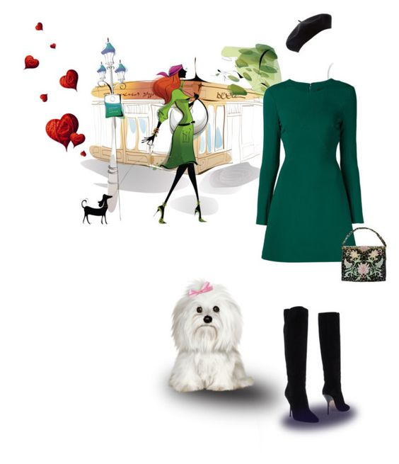 """Hurrying Princess"" by fm3happy ❤ liked on Polyvore featuring Cushnie Et Ochs, Jimmy Choo and Trilogy"