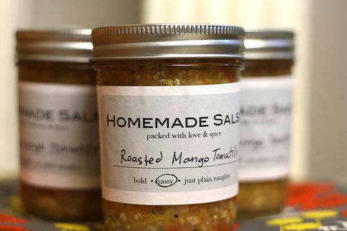 Roasted Mango Salsa recipe with downloadable labels