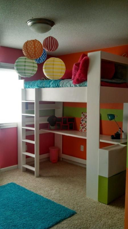 Loft Bed And Room Do It Yourself Home Projects From Ana White Kids Bedroo