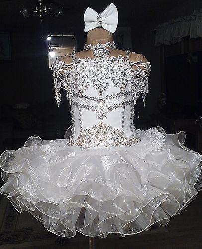 Your Choice Custom Made Glitz Pageant Dress Size 4 6 Girls | eBay