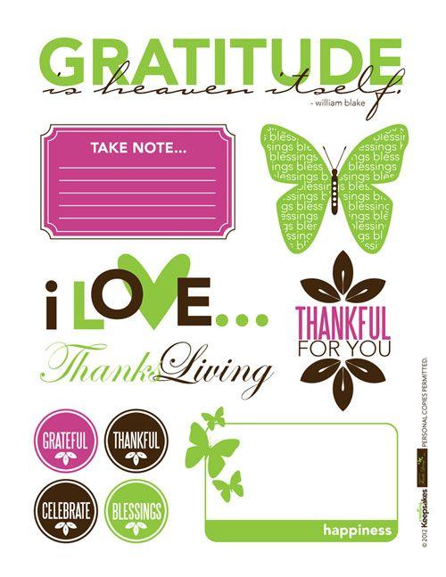 Free Thanks-Living Printable from Creating Keepsakes