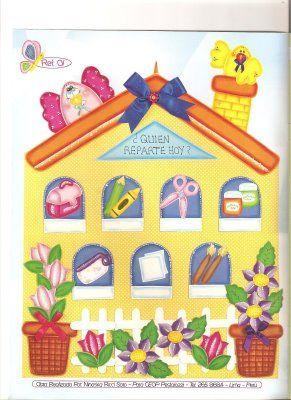 Cartel para responsabilidades ambientes preescolar for Decoracion para jardin de ninos