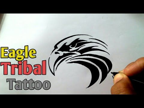 Drawing Tribal Eagle Tattoo How To Draw Eagle Tattoo Easy Eagle Tattoos How To Draw Eagle Easy Youtube Tribal Eagle Tattoo Tribal Eagle Tattoo