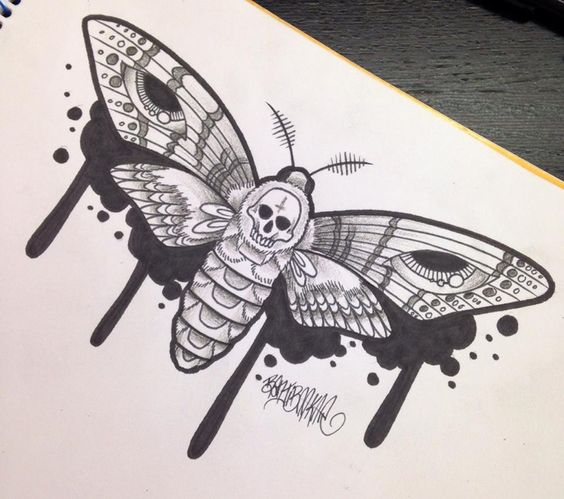 Death's Head Moth by yelloemello on DeviantArt