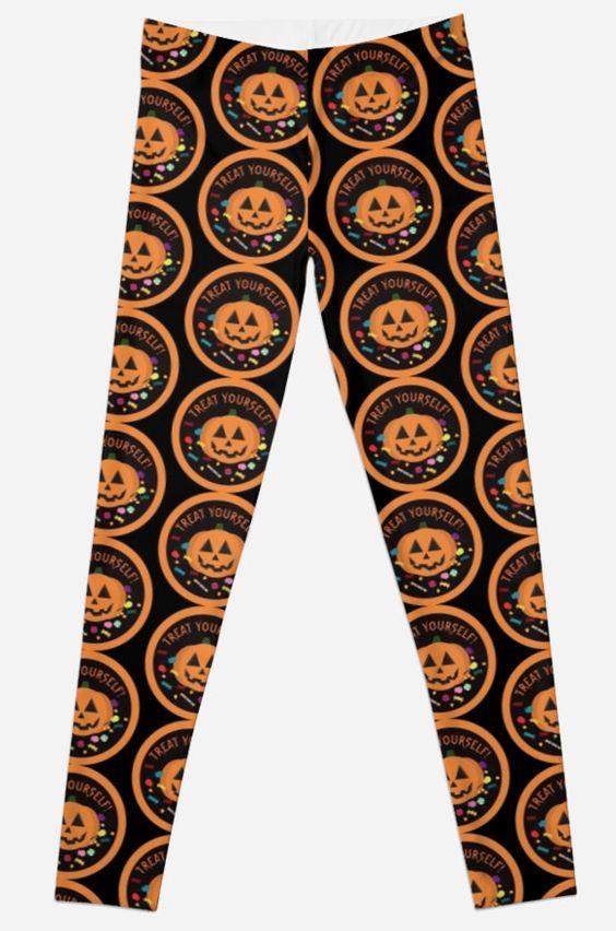 Treat Yourself! Leggings #halloween #pumpkin #candy #trickortreat #happyhalloween
