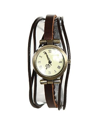 Braided Leather Watch                                              $12.99