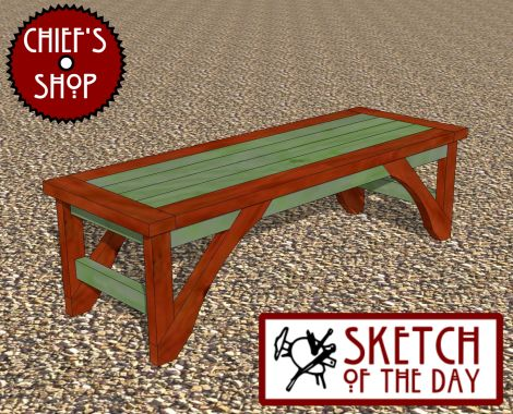 Sketch of the Day: Garden Bench