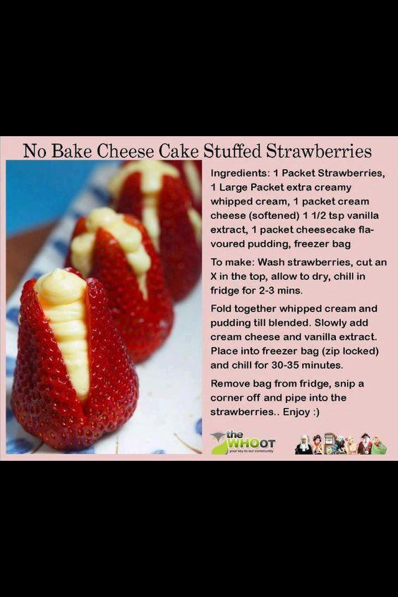 Cheese cake strawberries