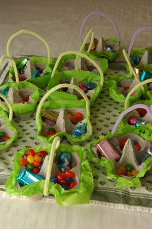Cool DIY Made Easter Baskets! Great Idea for the Pre School kids!