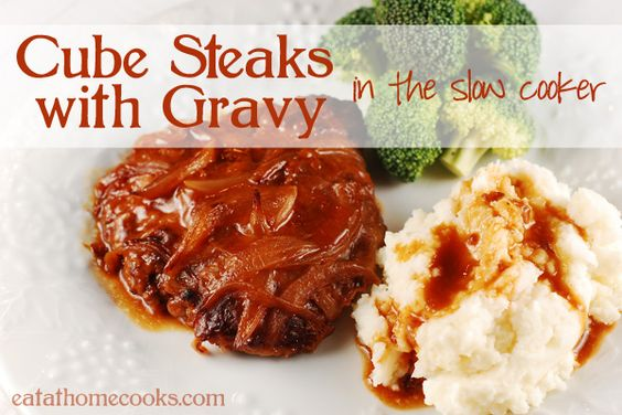 Cube Steaks And Gravy In The Slow Cooker Recipe Weekly Meal Plans Gravy And Boys