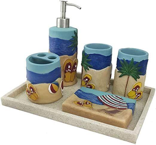 Lxyfms Bathroom Accessories Set Creative Home Bathroom Decoration Resin Wash Lotion Lotion Dispenser Bathroom Bathroom Accessory Set Bathroom Accessories Sets