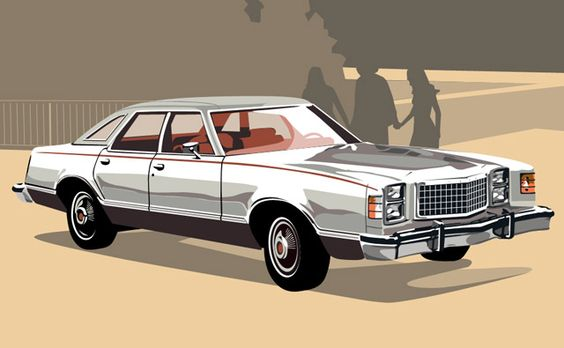 """Ford LTD II Brougham 1977, my Dad had these cars all through the 60's and '70's. This was the """"company car"""" and he got a new one about every year and a half. This then became the Crown Vic."""