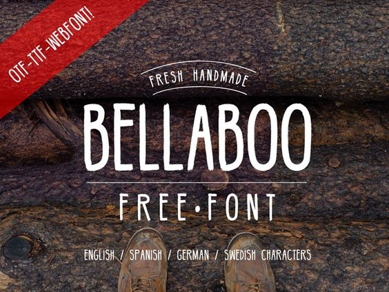 Really nice handmade font by Marcelo Reis Melo. BellaBoo is a allcaps font perfect for any kind of project the type also contain latin characters and swedish characters. Formats: .OTF .TTF and WEB FONT!Find out more about this project here: http://freegoodiesfordesigners.blogspot.se/2015/02/hipster-