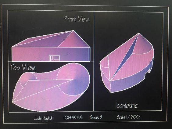 علما بأن الايزومتري هي واحدة من 6  Jude Hadidiالرسم المعماري بالحاسوب/ computer architectural drawing انواع من الاكسنومتري وللك من الاصح كتابة الفئة بشكل عام لتمييزها هن المنظور: