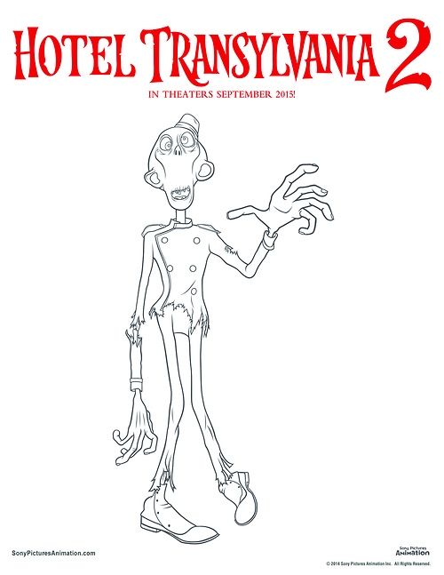 Zombie - Hotel Transylvania 2 Coloring Page | Movie night ...