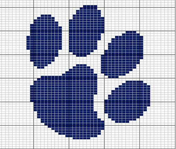 paw pattern + a lot more Crafts - animals cross stitch Pinterest Knitti...