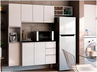 Cozinha Completa Poliman Moveis Laura Com Balcao 8 Portas 2