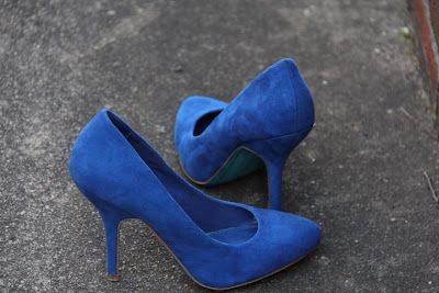 Cobalt heels hiding out in Zara's.