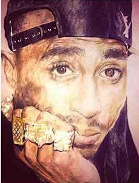 Tupac Amaru Shakur Portrait ✯↺☆★⭐✨✪✪✨⭐★☆↻✯