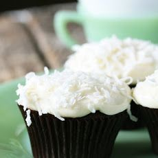 Chocolate Cupcakes with Coconut Cream Cheese Frosting Recipe