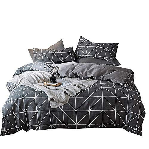 Mixinni 3 Piece Simple Geometric Pattern Bedding Sets Collections