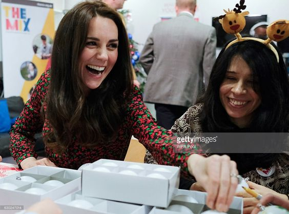 hrhduchesskate: The Mix Volunteer Christmas Party, December 19, 2016-Duchess of Cambridge: