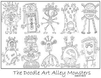Doodle Art Alley Monsters