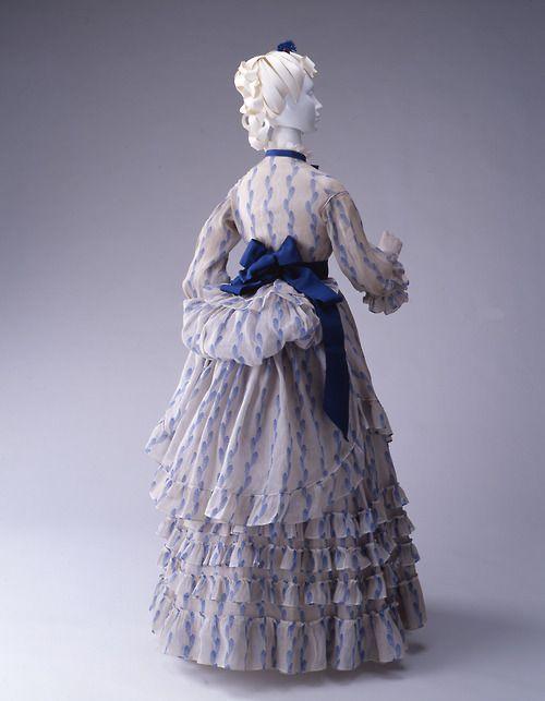 kyoto costume institute gown 1861   Day dress ca. 1875 From the Kyoto Costume Institute