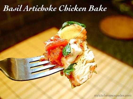 Basil Artichoke Chicken Bake   Chicken breasts, Artichokes ...