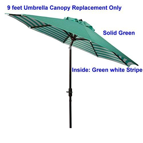 Bayside21 Replacement Umbrella Canopy For 8 Ribs 9 Ft Outdoor