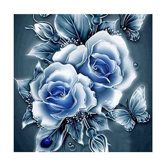 5D Diamond Embroidery Painting Butterfly Rose DIY Cross Stitch Art Craft Decor