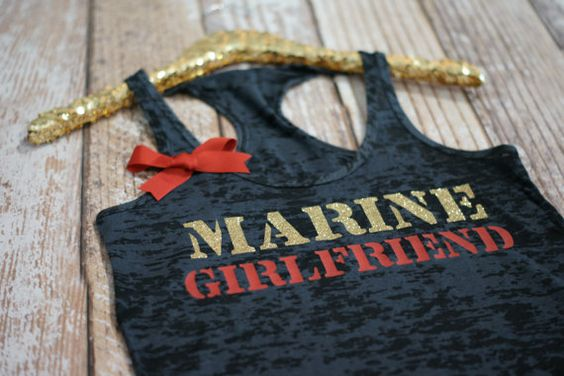Marine Girlfriend Wifey Tank Top Shirt. by strongconfidentYOU