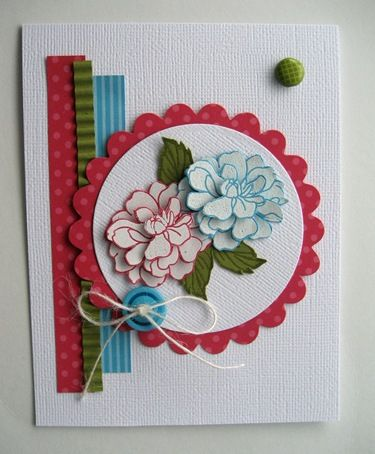 Save those Scraps-nice card for those scraps we wonder what to do with.