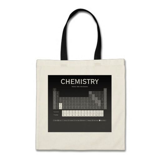 Periodic Table of the Elements Tote Bag by Janz Canvas Bag