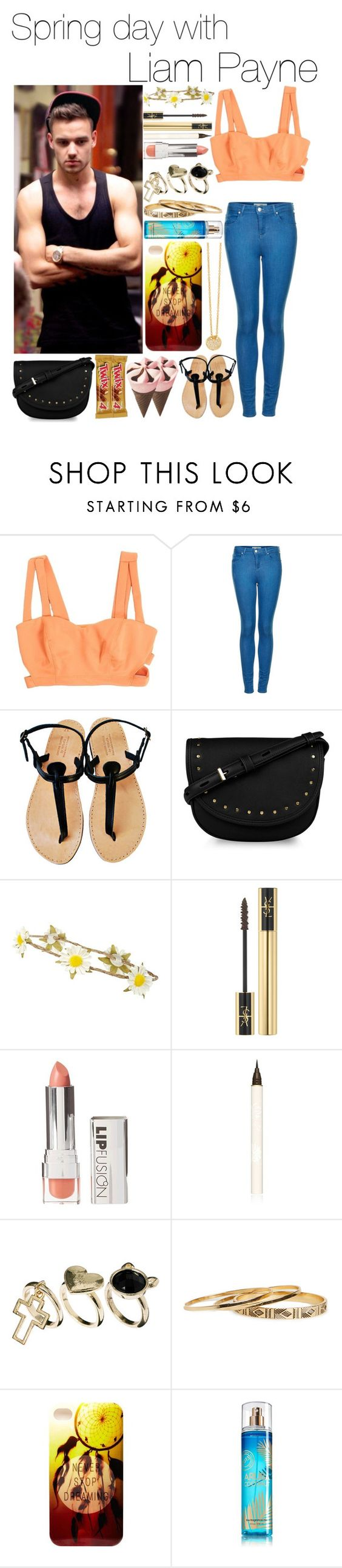 """Spring day with Liam Payne"" by kidrauhl-12 ❤ liked on Polyvore featuring Payne, Topshop, CHARLES & KEITH, Yves Saint Laurent, FusionBeauty, Paul & Joe, Rock 'N Rose, DailyLook, Charlotte Russe and 7 For All Mankind"