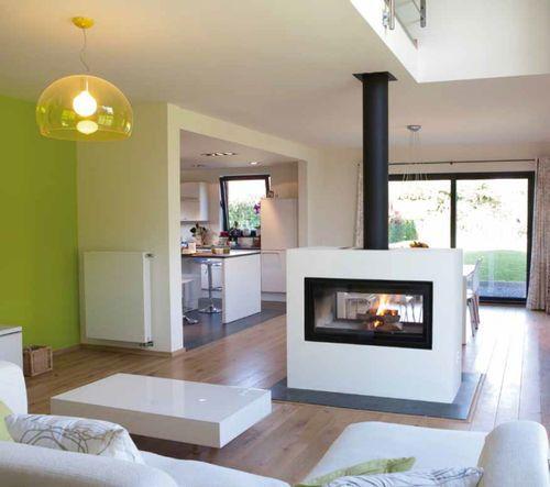 Foyer fermé à bois pour cheminée double-face DÉCOR 16/9 DF PLUS ...