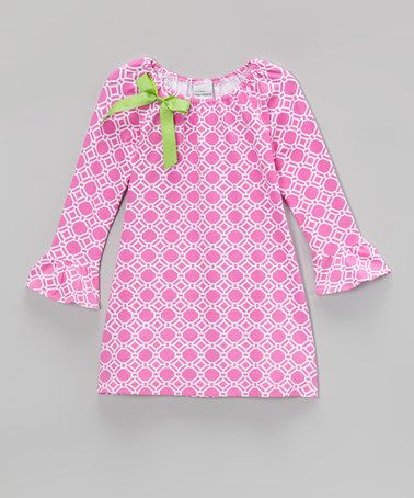 Look what I found on #zulily! Pink Deco Diamond Lily Dress - Infant, Toddler & Girls by Flap Happy #zulilyfinds