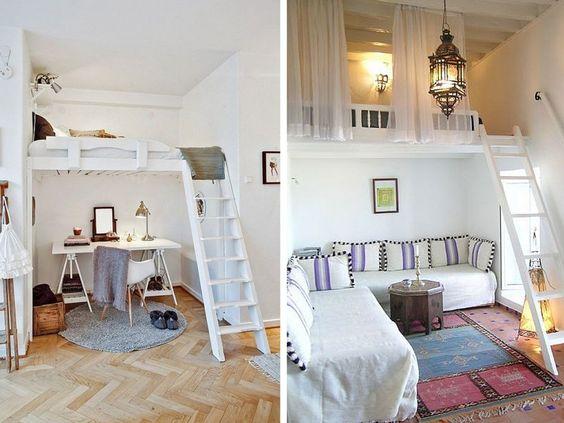 Aprovechando al máximo el espacio. Ideas decoración #dormitorios