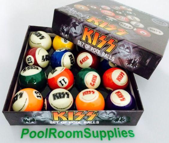 Kiss Gene Simmons Pool Balls 2 inch Christmas Birthday Fathers Day Gift Idea | eBay