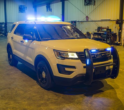All Blue Led S New 2017 Pre Built White Ford Explorer Police