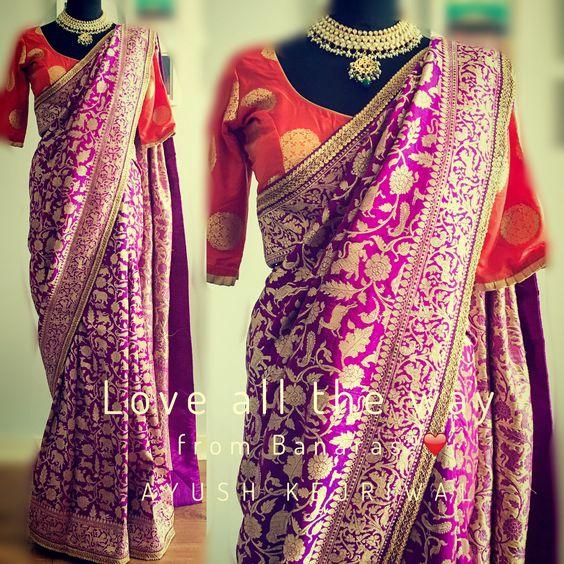 Benarsi Saris by Ayush Kejriwal or purchases email me at designerayushkejriwal@hotmail.com or what's app me on 00447840384707 We ship WORLDWIDE. Instagram - designerayushkejriwal