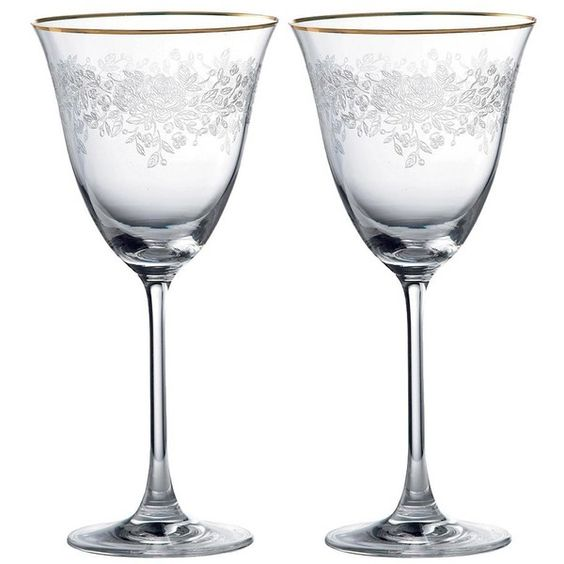 Royal Albert China Royal Albert Goblet Set Of 2 ($61) found on Polyvore