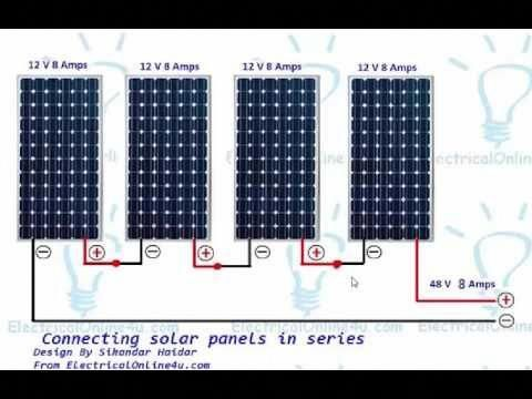 Effect Of Solar Panels In Series And Parallel Connection And How To Check Solar Panel Youtube Solarpower Solar Panels Best Solar Panels Solar Roof