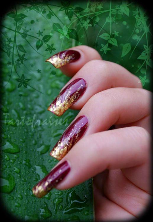 Nail art «Artifices dorés» | Tartofraises