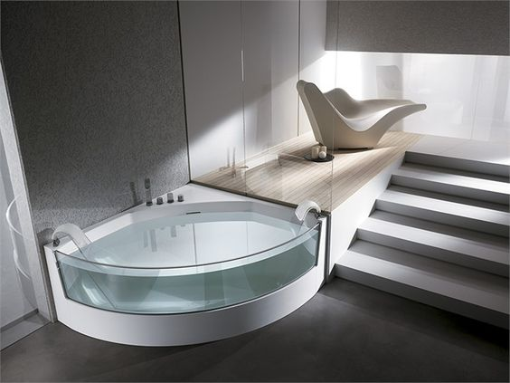 Corner whirlpool bathtub VIEW ANGOLO View Collection by TEUCO GUZZINI | design Lenci Design from archi products