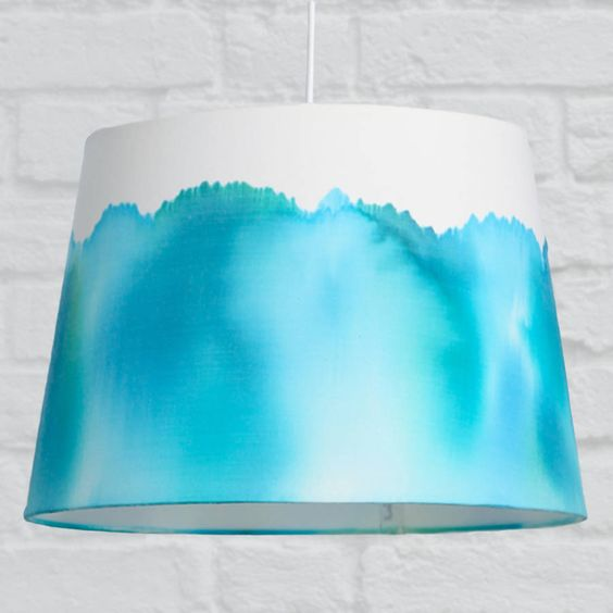 Painting Lamp Shades, Aqua Blue Lamp Shades