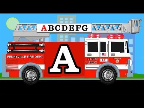 Alphabet learn english abcs fire trucks for kids youtube