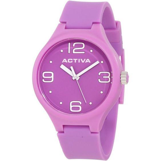 Activa By Invicta Purple Dial Purple Polyurethane Watch $32