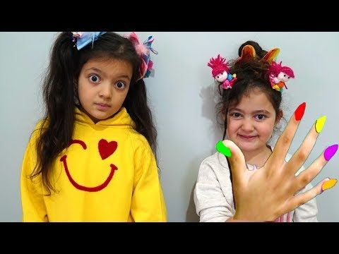 Oyku And Masal Pretend Play With Play Doh Nails Funny Kid Video Youtube Play Doh Entertainment